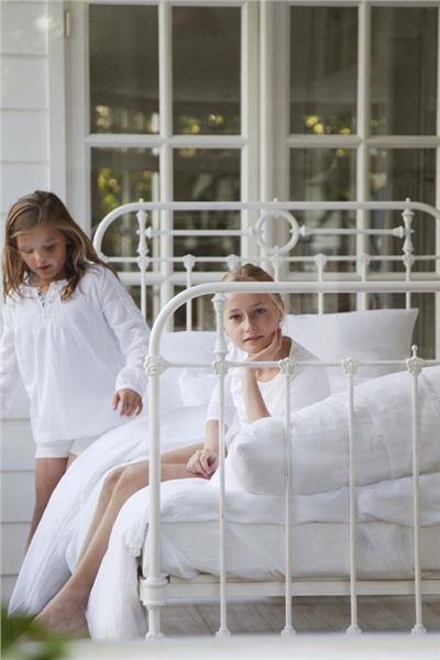 HERITAGE organic WHITE linen bedding