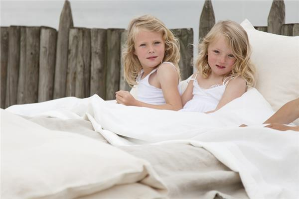 HERITAGE organic linen bedding - FLAX and OYSTER